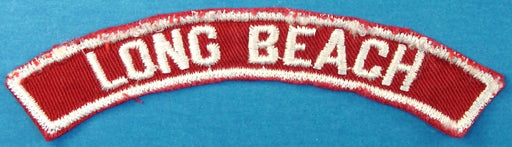 Long Beach Red and White City Strip