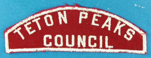 Teton Peaks Council Red and White Council Strip