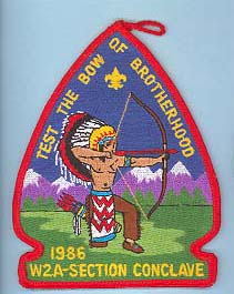 1986 Section W2A Conclave Patch