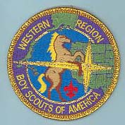 Western Region Patch - Gold Mylar