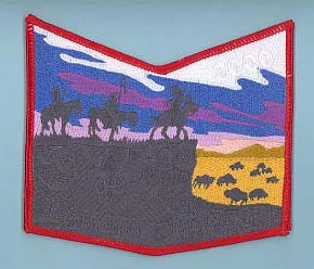 Lakota Chapter Chevron Red Border