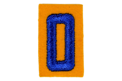 0 Felt Unit Number Blue on Yellow