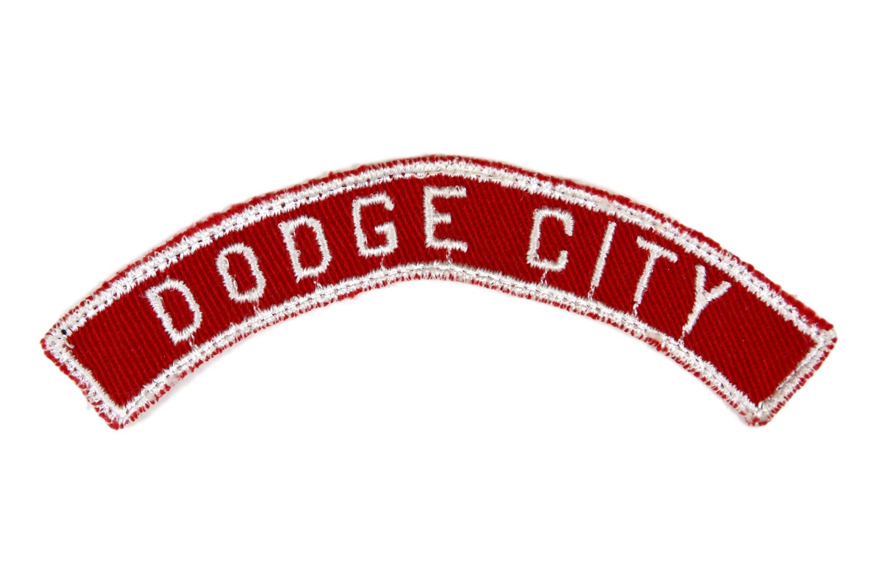 Dodge City Red and White City Strip