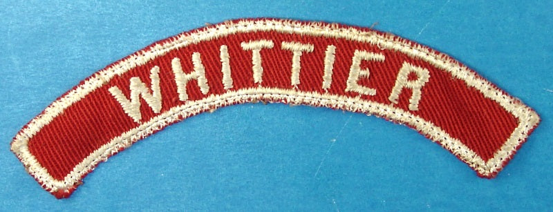 Whittier Red and White City Strip