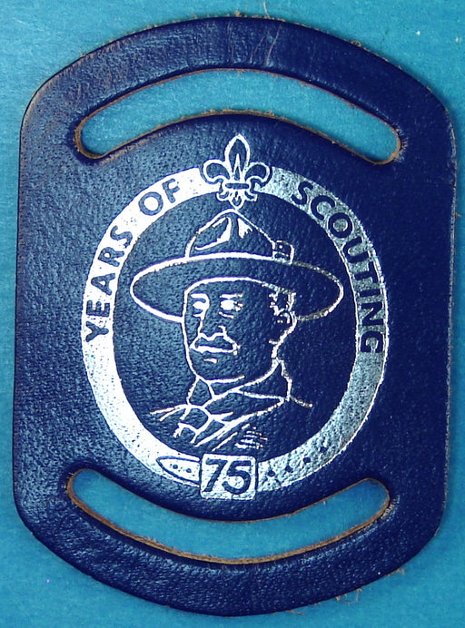 1982 Canadian 75th Anniversary Neckerchief Slide Leather