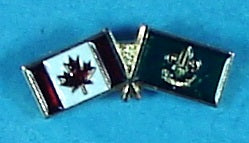 Canadian / ? Flags Pin
