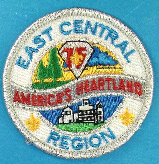 East Central Region Patch Silver Mylar Border