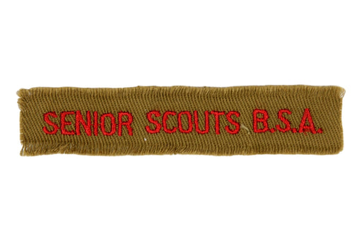 Senior Scouts B.S.A. Shirt Strip 1940s on Tan