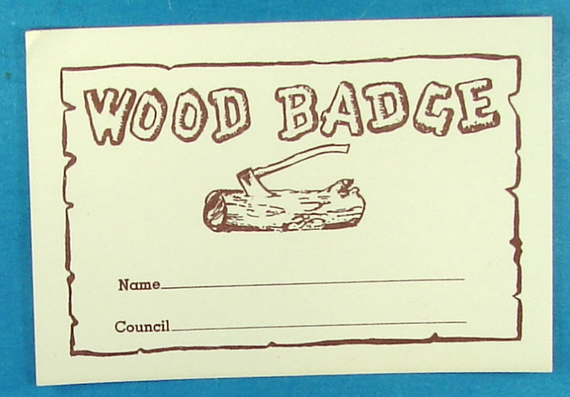 Wood Badge Name Paper