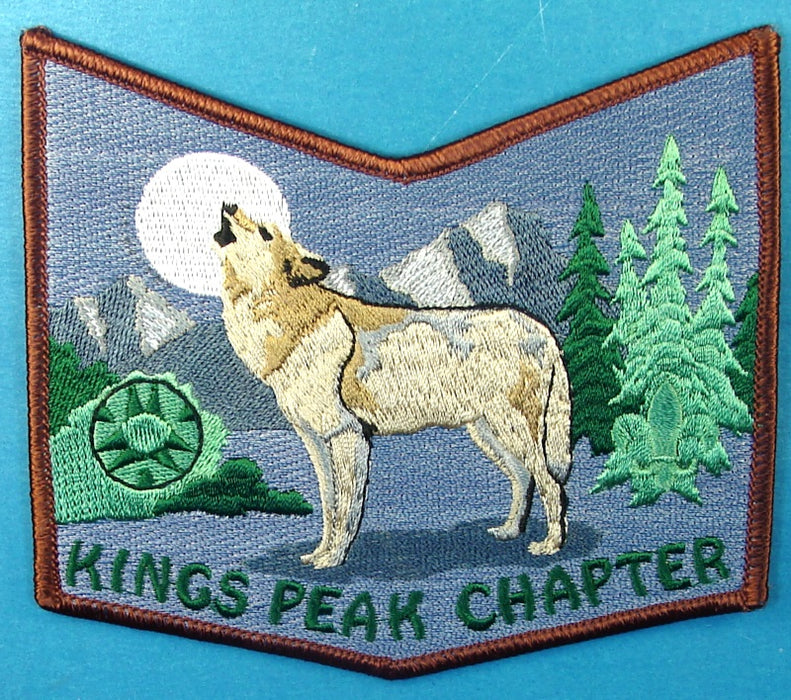 Lodge 508 Patch Kings Peak Chapter Brown Border