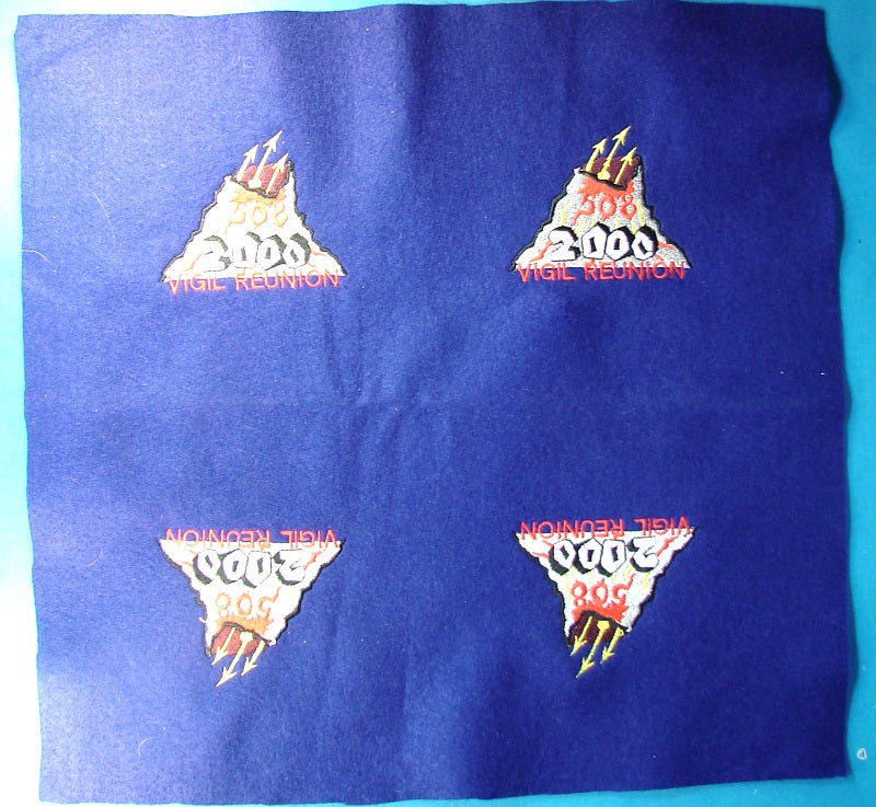 Lodge 508 Vigil Reunion 2000 Patch Full Sheet of Four