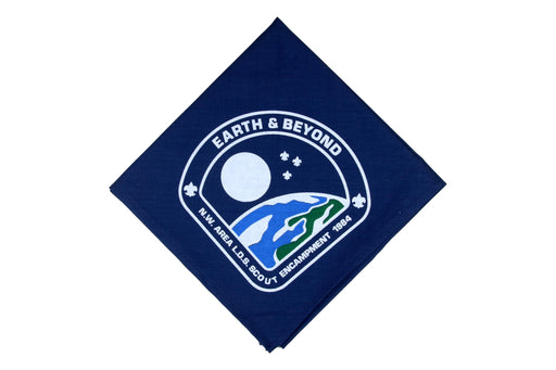 1984 Northwest Area LDS Encampment Neckerchief Earth & Beyond