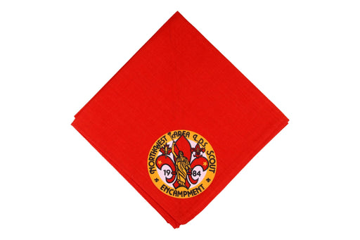 1984 Northwest Area LDS Encampment Neckerchief Red