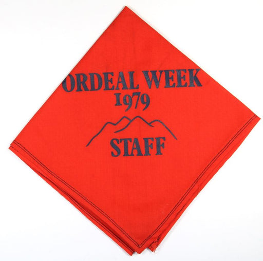 Lodge 508 Neckerchief 1979 Ordeal Week Staff