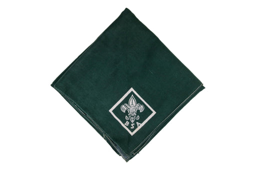 Full Square Troop Neckerchief 1920s-1930s Forest Green
