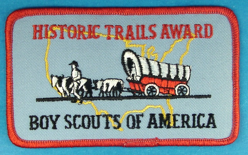 Historic Trails Award Patch Clear Plastic Back