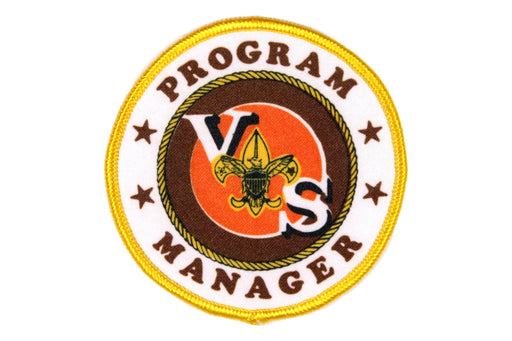 Program Manager Patch Silk Screened