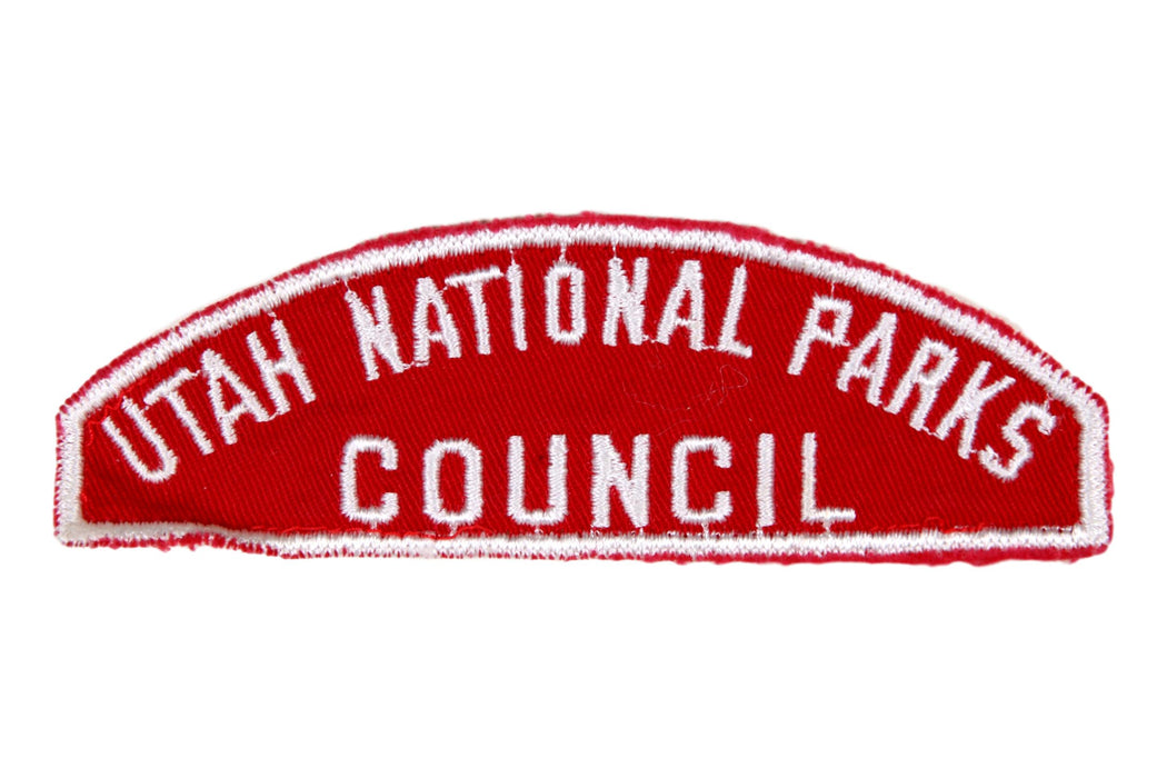 Utah National Parks Council Red and White Council Strip