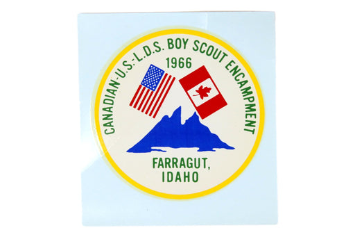 1966 LDS Canadian-US Encampment Decal