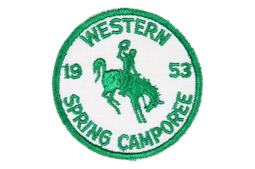 1953 Western Camporee Patch