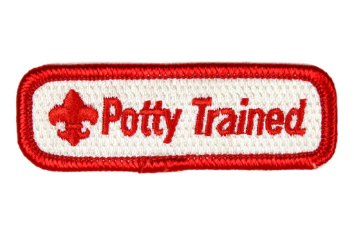 Potty Trained Trained Strip Red