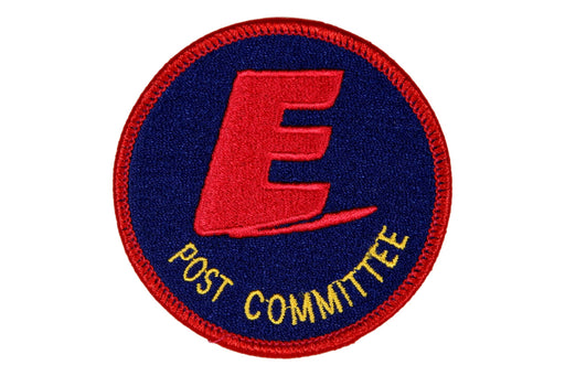Post Committee Patch Exploring Blue Background