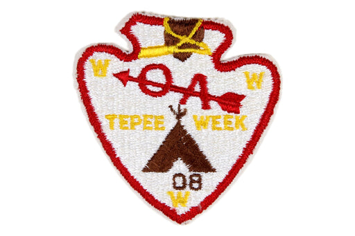 Lodge 508 TePee Week Patch Fully Embroidered Gold Lettering