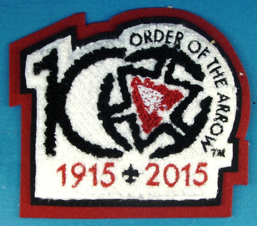 100th Anniversary of the Order of the Arrow Chenille Red Felt