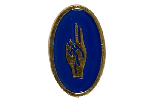 Scout Sign Pin Color