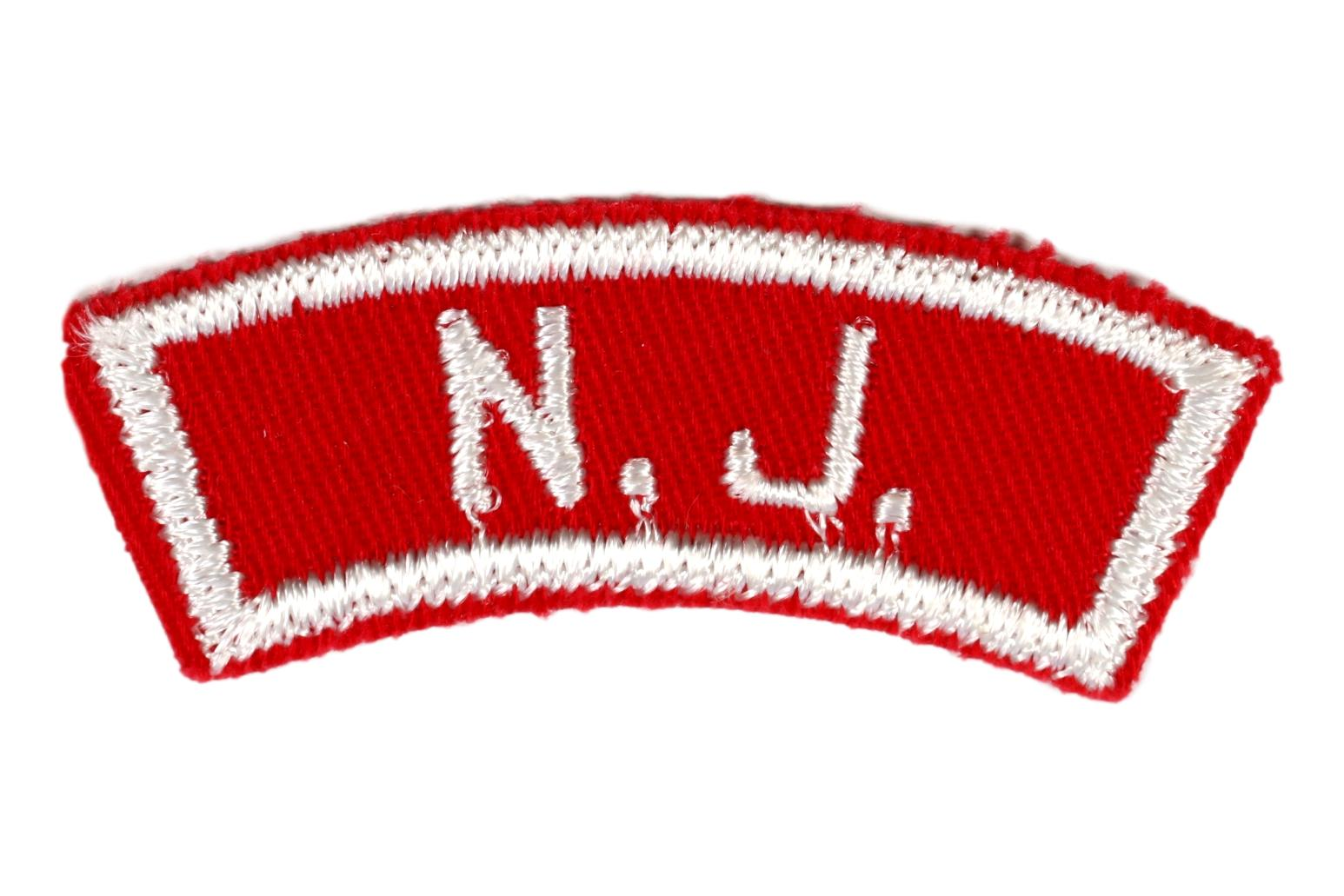 New Jersey Red and White State Strip