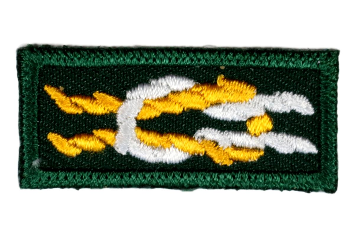 Silver Antelope Award Knot on Forest Green