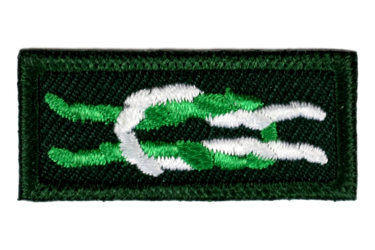 Scouter's Key Award Knot on Forest Green
