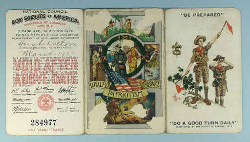 Boy Scout Membership Card 1933