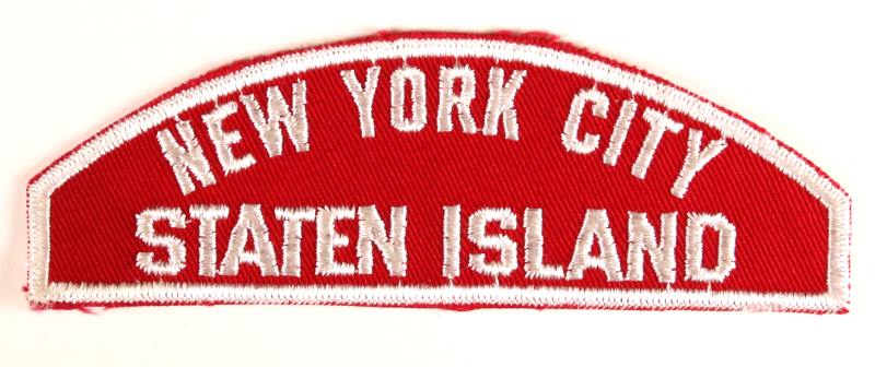 New York City Staten Island Red and White Council Strip