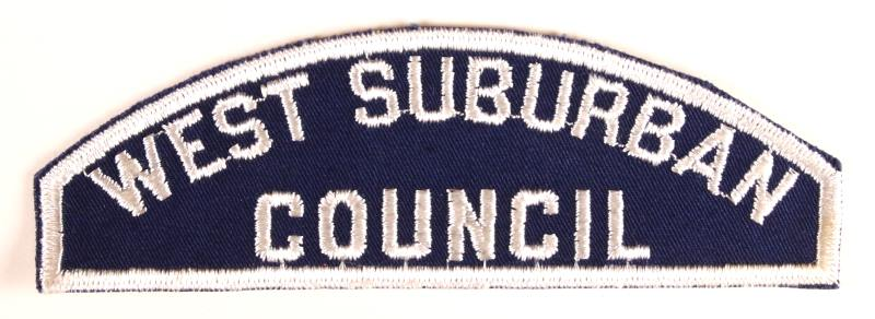 West Suburban Council Blue and White Council Strip