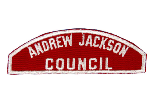 Andrew Jackson Red and White Council Strip