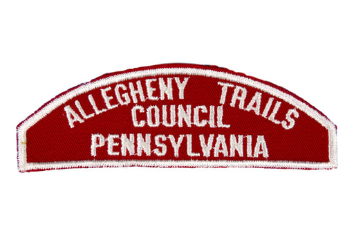 Allegheny Trails Red and White Council Strip