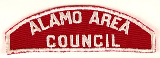 Alamo Area Red and White Council Strip