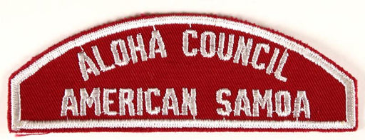 Aloha American Samoa Red and White Council Strip