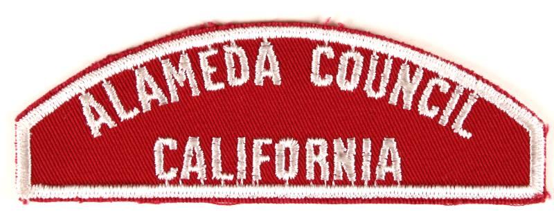 Alameda Red and White Council Strip