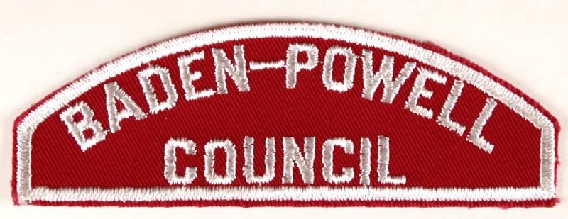 Baden-Powell Red and White Council Strip