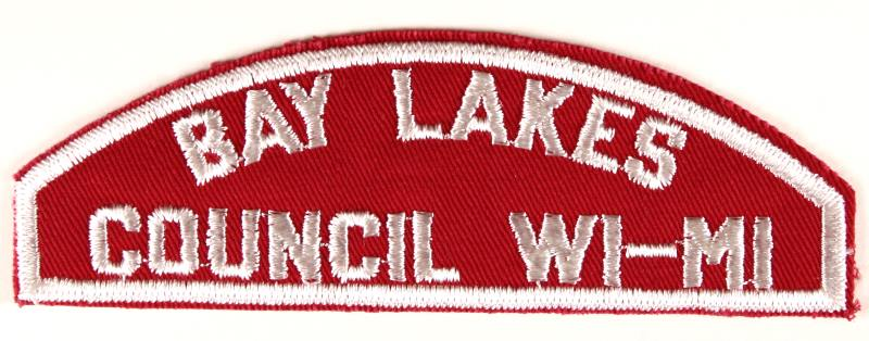 Bay Lakes Red and White Council Strip