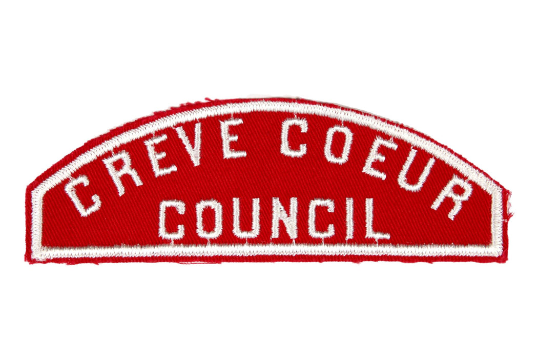 Creve Coeur Council Red and White Council Strip