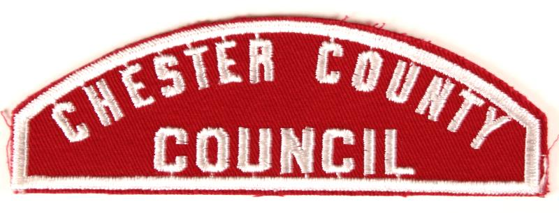Chester County Red and White Council Strip