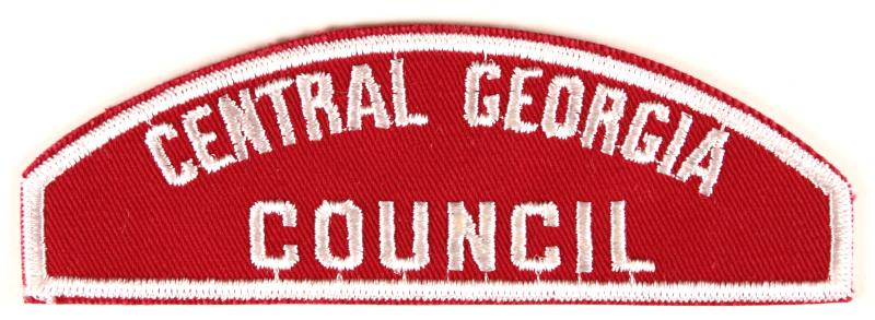 Central Georgia Council Red and White Council Strip