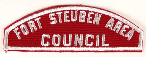 Fort Steuben Area Council Red and White Council Strip