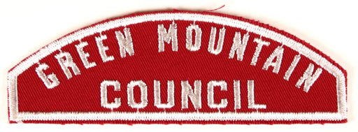 Green Mountain Red and White Council Strip