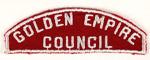 Golden Empire Red and White Council Strip