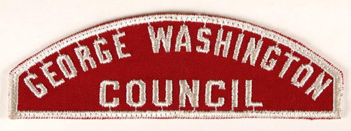 George Washington Council Red and White Council Strip