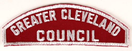 Greater Cleveland Council Red and White Council Strip